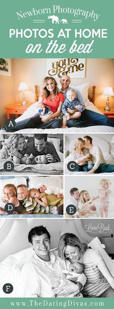 Newborn Photos on the Bed