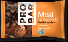 PROBAR Meal™ Double Chocolate  -- Give in to chocolate without the guilt. Packed with organic sunflower and flax seeds plus chunks of chocolate goodness, Double Chocolate is bound to please the chocolate lover inside.