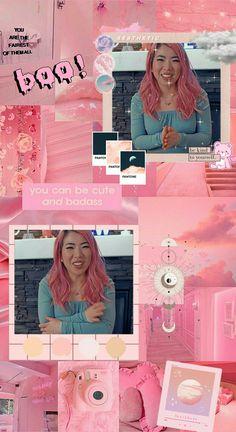 Cute Youtubers, Drawings Of Friends, Rainbow Wallpaper, Aphmau, Aesthetic Backgrounds, Wall Collage, Fan Art, It's Funny, Cool Stuff