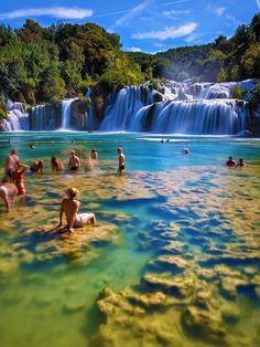i love croatia pretty sure i have been here although didn't look just like that when i was there.A sunny afternoon at Krka National Park in Croatia Vacation Destinations, Dream Vacations, Vacation Spots, Holiday Destinations, Places Around The World, Travel Around The World, Around The Worlds, Places To Travel, Places To See