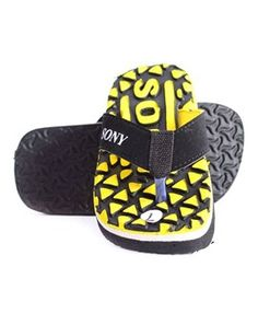 Black The young go getter slippers