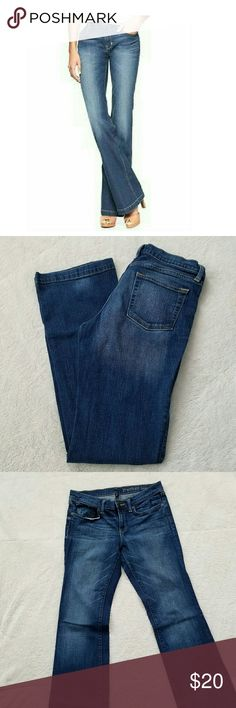 """Gap Long & Lean Premium Jeans Pair of EXCELLENT CONDITION True Blue wash of long and lean jeans from Gap, size 8. No rips, or stains. I have 3 pairs in all the same PERFECT condition. Ask me about a bundle! Inseam measures 34"""" and waist measures 16"""" across. GAP Jeans Boot Cut"""