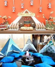 Modern Country Designs: Backyard Camping Party Ideas  Mini tents