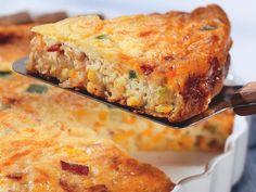 Cheddar-Corn Impossible Pie   Cookstr.com