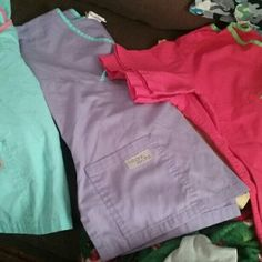 Scrub bundle! 6 sets & over 20 pieces! All are gently used some have only been worn a couple times are it and are in new condition some there is minor notice of you like at the very bottom edges of the pant legs due to the fact that I am short but there are no holes or stains in any of them. Other
