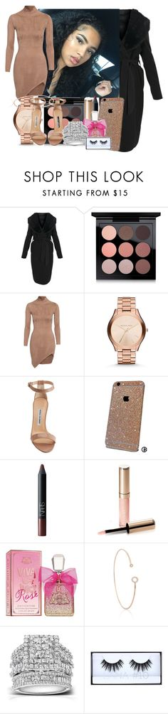 """""""Date w/ My Baby Daddy ~ Lae"""" by oxxyy-watahh ❤ liked on Polyvore featuring MAC Cosmetics, Michael Kors, Manolo Blahnik, NARS Cosmetics, By Terry, Juicy Couture, Astrid & Miyu, Kobelli and Huda Beauty"""