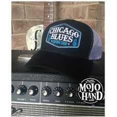chicago blues guitar shop hat - only at mojohand.com - blues gifts