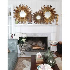 Sun Orbit Wall Mirror - Unique Modern Furniture - Dot & Bo