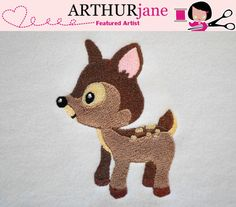 Fawn Embroidery Design for Machine Embroidery 4x4 by ARTHURjane, $3.99