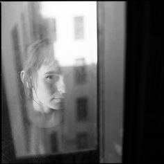 Photographer Vika Bykovskaya Portrait Hasselblad 500cm Black And White Photography Film 120mm