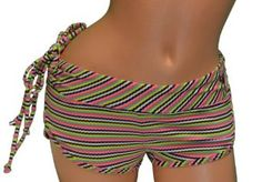 Roxy Women's Native Summer Boy Shorts Bikini Bottoms-Pink/multi --- http://www.pinterest.com.tocool.in/3sk