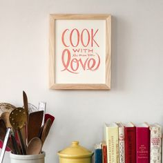 Cook with the ones you Love 8 x 10 print by NourishingNotes, $15.00