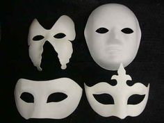 Blank Venetian Masks To Decorate Halloween Unpainted Plain Blank Version Paper Pulp Mask Masquerade