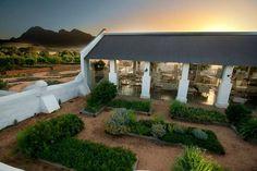 fazenda babylonstoren, na áfrica do sul | vista externa do restaurante babel