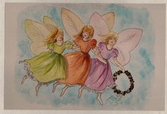 Three Sister Fairies Three Sisters, Fairies, Watercolor, Drawings, Painting, Art, Pictures, Sketches, Art Background
