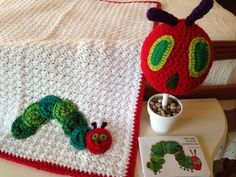 The Very Hungry Caterpillar theme blanket and hat set, Ready to Ship Baby Shower Gift Nursery by ILoveItGifts on Etsy https://www.etsy.com/listing/267343016/the-very-hungry-caterpillar-theme