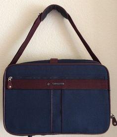 Samsonite Silhouette 4 Canvas Carry-On Airplane Travel Bag Suitcase Expandable #Samsonite