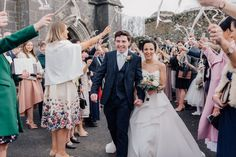 """All the """"we are just married"""" feels for Nicola and Paul at the Faithlegg House Hotel wedding. Streamers are a clever way to get around our church confetti ban here in Ireland! Timeless Wedding, Elegant Wedding, Hotel Wedding, Wedding Venues, Wedding Streamers, Documentary Wedding Photography, Irish Wedding, Great Photographers, Just Married"""