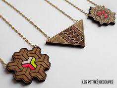 Les Petites Decoupes COLLECTION COLLIER // #bois #wood #handmade #bijoux