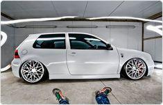 VW Golf MK4 R32 riding on #Rotiform monoblock BLQ