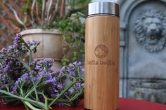 Amazon.com | Betta Bottle All Natural Bamboo and Food Grade Stainless Steel Insulated Tea Tumbler & Fruit Infuser With Strainer Travel Mug (15oz): Tumblers