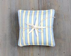 Pair of Striped Blue & Yellow Lavender Sachets by BailiwickStudio