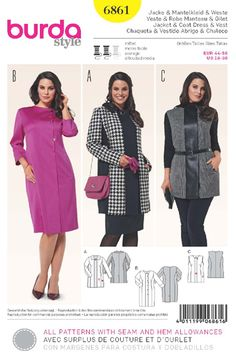 Burda 6861  NEW www.sewingpatterns.com