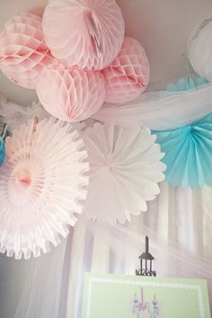 mariage, wedding, decoration, rose, pink, blue, bleu, lampions,