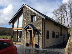 [ Self Build Timber Frame Cumbria Houses Cottage Extension Old Stone Passive House ] - Best Free Home Design Idea & Inspiration Self Build House Kits, Cottage Extension, Stone Cladding, Passive House, Kit Homes, House Design, Architecture, House Styles, Building