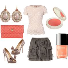 Coral for Spring, created by nessapolyvore.polyvore.com