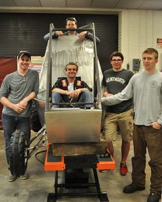 Building a Baja Buggy: After an almost two-year effort, members of Wentworth's Society of Automotive Engineers (SAE) have a near-completed Baja buggy on their hands.