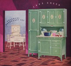 All sizes | 1928 Sellers Cabinet and Dining Set, via Flickr.  I have one similar to this but it isn't painted.