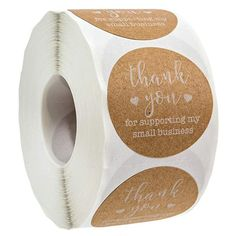 inch Round Kraft Thank You for Supporting My Small Business Stickers / 500 Labels Per Roll Packaging Box, Packaging Stickers, Label Stickers, Jewelry Packaging, Packaging Design, Custom Stickers, Business Labels, Business Stickers, Cake Business