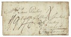 """""""PRISONNIER de GUERRE Angalis interné à ROUEN"""" : 1795 lettre de 3 pages écrite enANGLAIS datée """"ROUEN 22 janvier 1795"""" pour CLONARD(IRLANDE). TB texte """" Should any ofyour write, Direct to MASTER PARKER English prisoner of WAR, ROUEN"""". Quelques tachesmais GRANDE RARETE. TB.    Dealer  Lugdunum    Auction  Minimum Bid:  750.00EUR"""