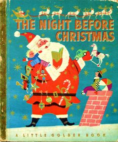 The Night Before Christmas, 1949, D edition, 2nd cover...pictures by Corinne Malvern