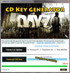 DayZ Free CD Key Generator-Keygen