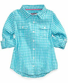 Epic Threads Girls' Plaid Shirt.  $19 Color/white skny jns + converse/loafers + boatnk swtr Long wt shorts + loafer