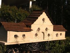 This would be cool in my garden ... Personalized Birdhouse for a LARGE Family  by southernprettys