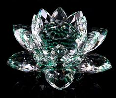 Free Shipping Crystal Lotus Art Glass Paperweight Table Decor 100mm Width in various colors(China (Mainland))