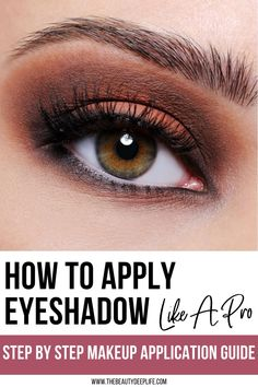 Eye makeup simple step-by step tips: How To Apply Eyeshadow Like A Pro #eyeshadow #makeuptips #eyemakeup #beauty