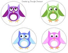 FREE Owl Circle Labels