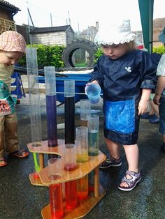 """""""This week we have been playing with our new Water Symphony set. We have been listening to all of the different sounds the tubes make..."""" Odstock Day Nursery ≈≈"""
