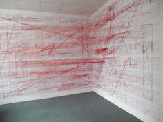 Network of the German Civil Code: A hand-made visualization was done to connect 2385 paragraphs of the German Civil Code by 1896. Every paragraph contains a number of references to other paragraphs. In the physical visualization each reference was visualized through red threads. #Physical
