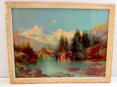 Thomas Moran Vintage Art Print Signed by nanascottagehouse on Etsy, $75.00