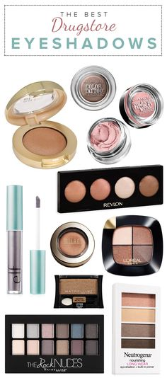 These are the best drugstore eyeshadow palettes. Makeup Mascara, Eye Makeup Remover, Drugstore Makeup, Skin Makeup, Beauty Makeup, Beauty Tips, Beauty Ideas, Makeup Brushes, I Love Makeup