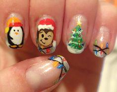 Christmas nail art. manicure design