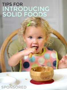 Tips for Introducing Solid Foods and How SpoonfulOne can help your child reduce the risk of developing a food allergy! Baby Sensory Play, Baby Play, Two Years Old Activities, Introducing Solids, Baby Games, Infant Activities, Food Allergies, Baby Month By Month, A Food