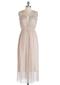 Stunned Silence Dress. As you enter the ballroom at your sweetheart's side, a hush falls over the guests at the sight of you and your cream maxi dress by Soma London! #pink #wedding #bridesmaidNaN