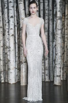 Magical beading and details from Naeem Khan at Bridal Market 2015