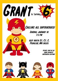Superhero birthday party. so cute!